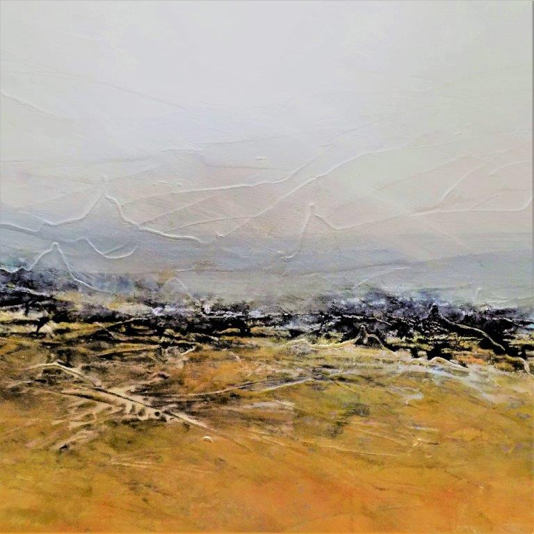 One with the man in the wind  36 x 48  SOLD