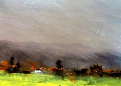 The sky is torn across*  40 x 60  Lorimer Gallery PEI